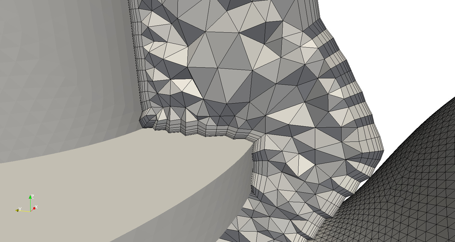 Tetrahedral mesh with boundary layer